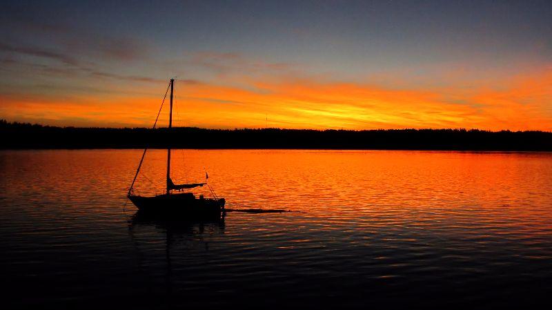 Sail Boat Sunrise