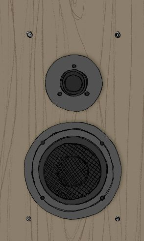 Hand Drawn Retro Speaker