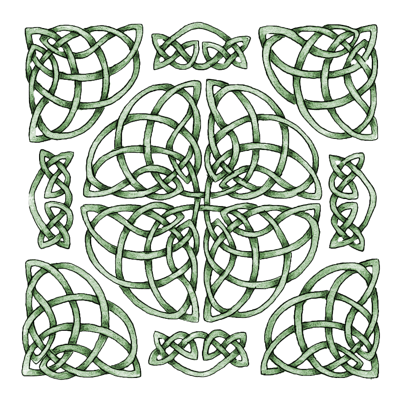 Celtic Knot Weave Square