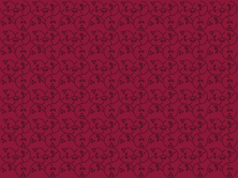 Berry Pattern  Red