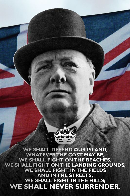 Churchill Never Surrender