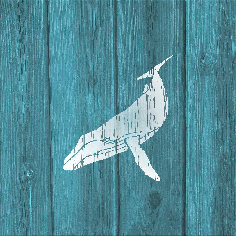 Humpback Whale Stencil