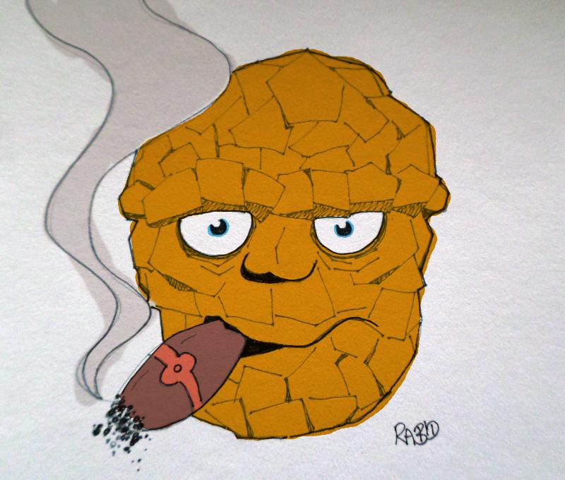 Orange Rock Monster