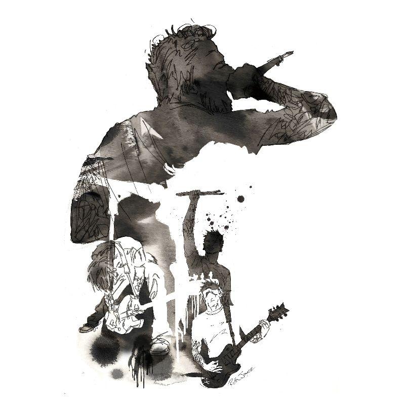 Band  Music Illustration