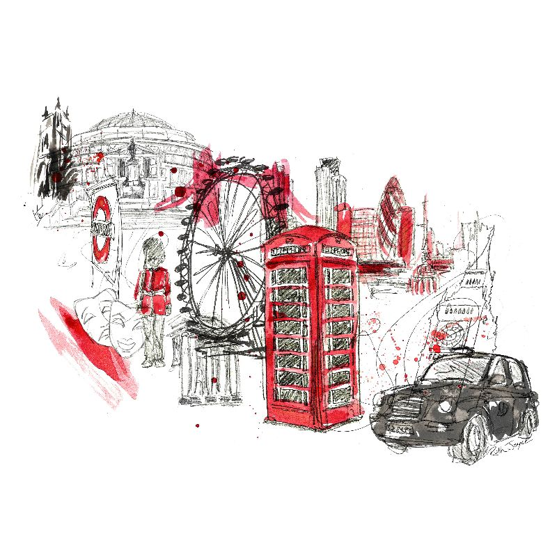 London Town Illustration