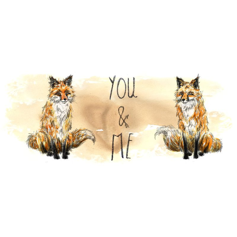 You and Me Fox Design