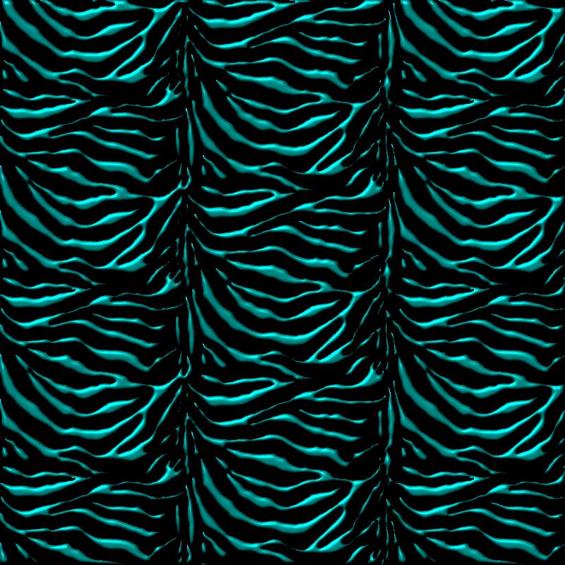 Teal  Black Zebra Print