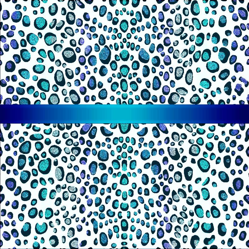 Turquoise Leopard Print