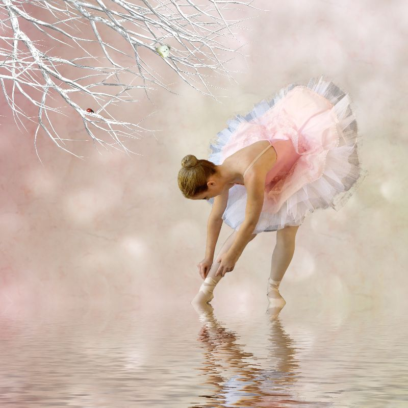 Ballerina in water