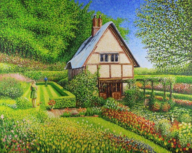 Gifts With English Cottage Garden By Simon Knott Fine Artist