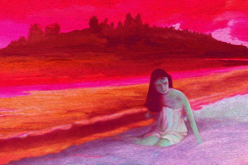 Romantic Mermaid  Sunset