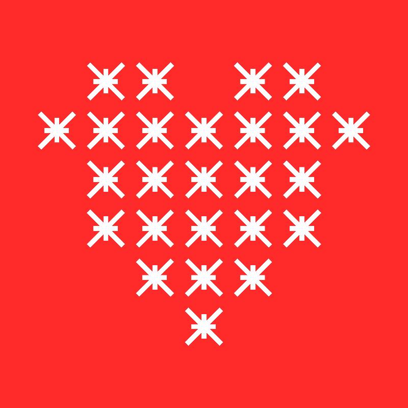 Red Heart Line Art 2