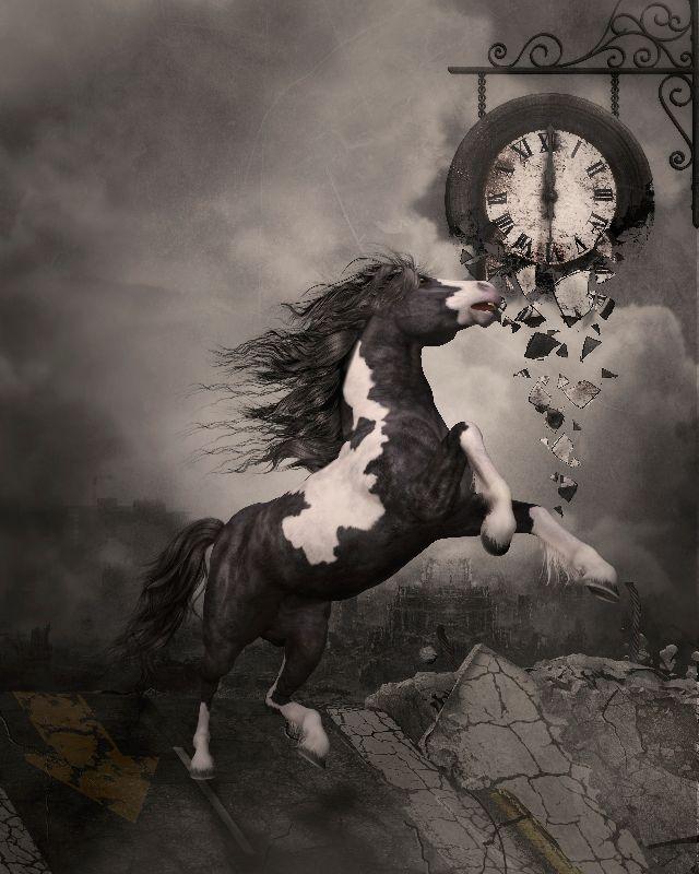Fleeing horse