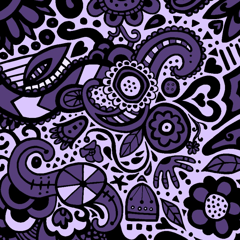 Ultraviolet Folk Pattern