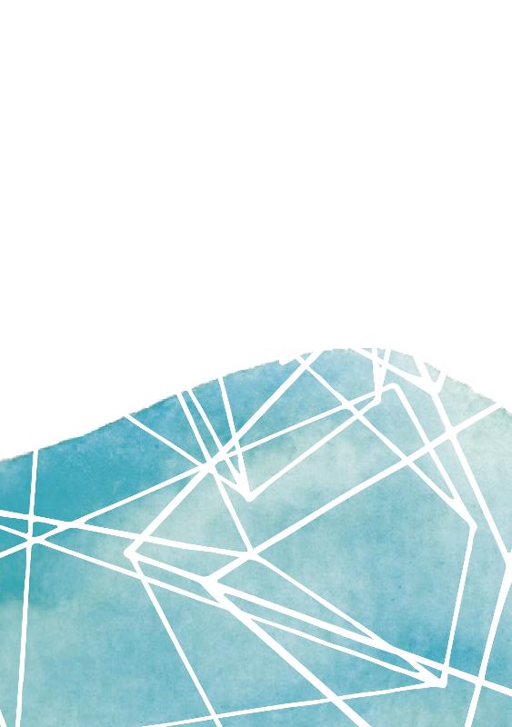 Blue Watercolour Lines
