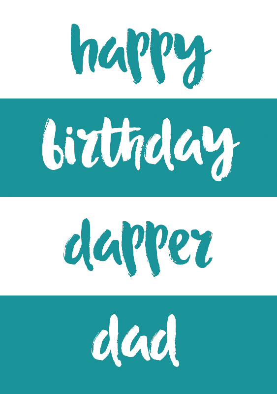 Dapper Dad Birthday Card