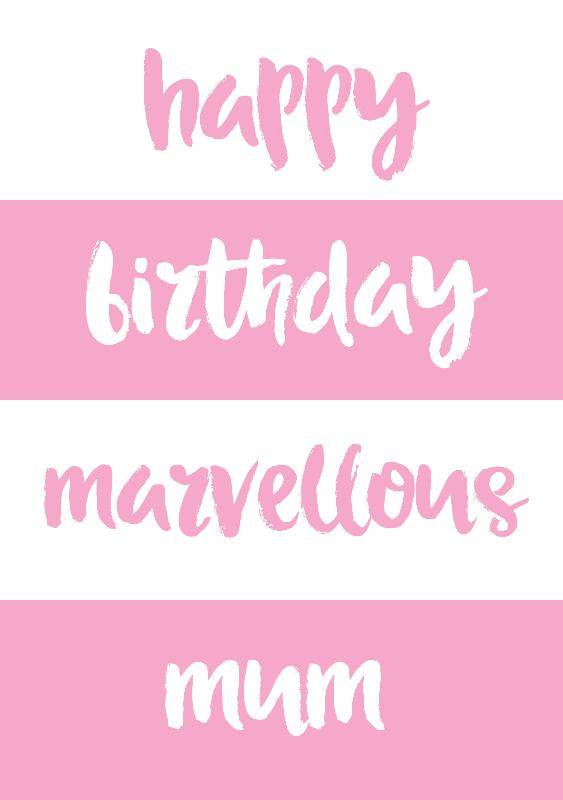 Marvellous Mum Birthday