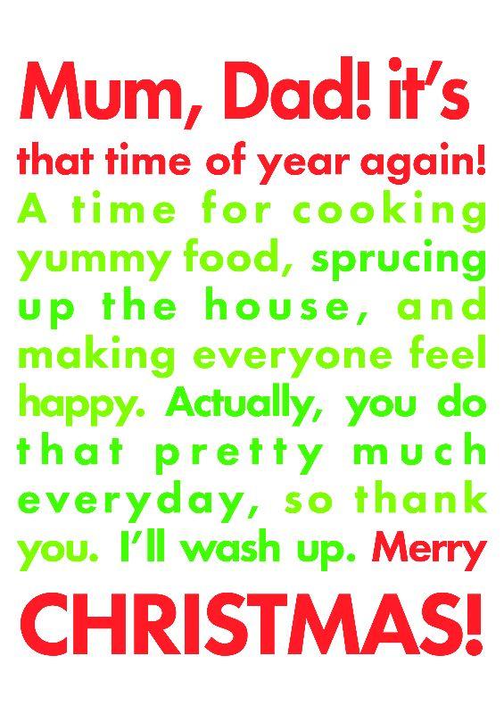 Parents Christmas Card