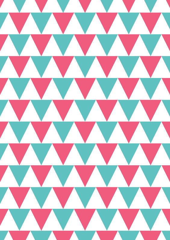 Pink  Teal Triangles