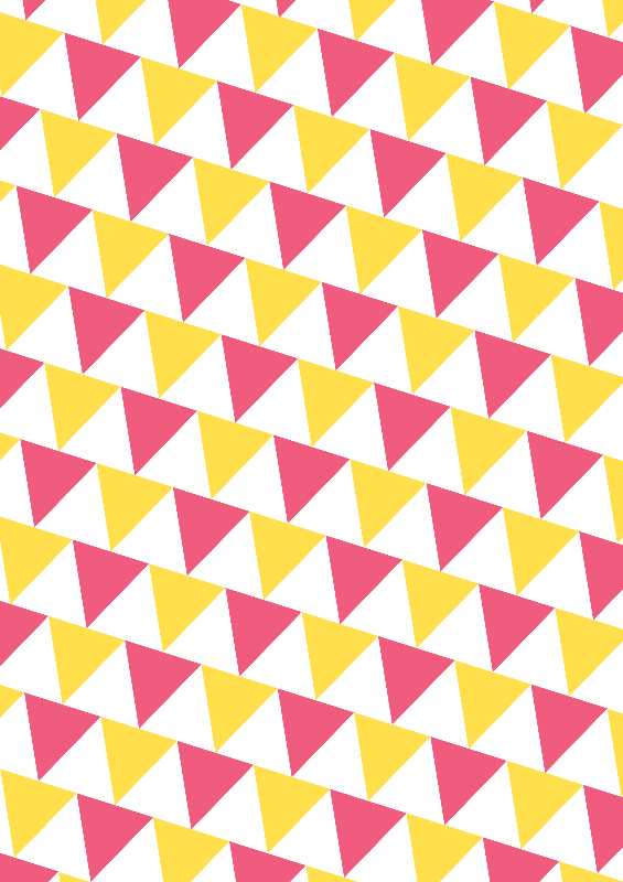 Pink And Yellow Triangles