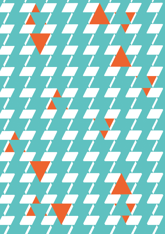 Teal  Orange Triangles