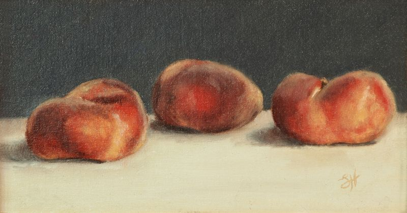 Three Flat Peaches