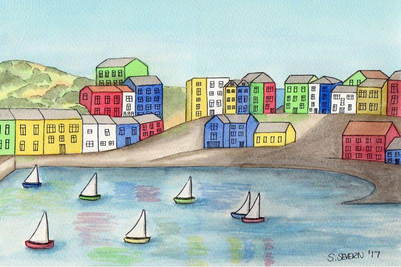 Sailboats at Tenby