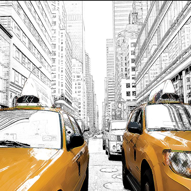 NY Cabs by Rosina