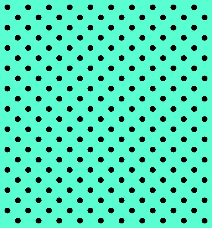 Mint Black Polka Dots
