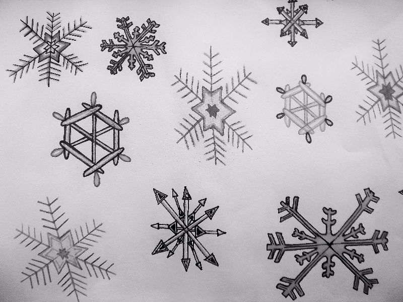 Black and white snowflake