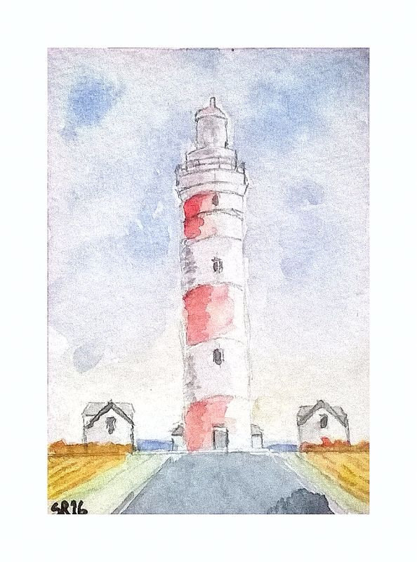 Red and white Lighthouse