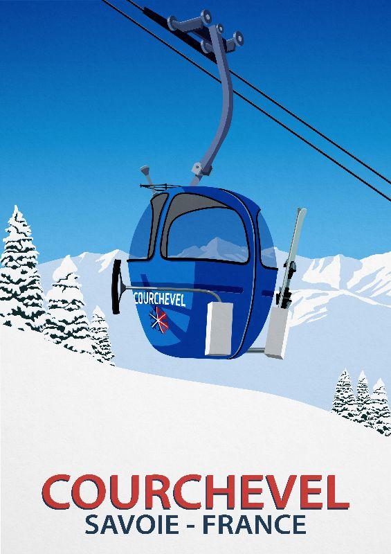 Couchevel Ski Poster