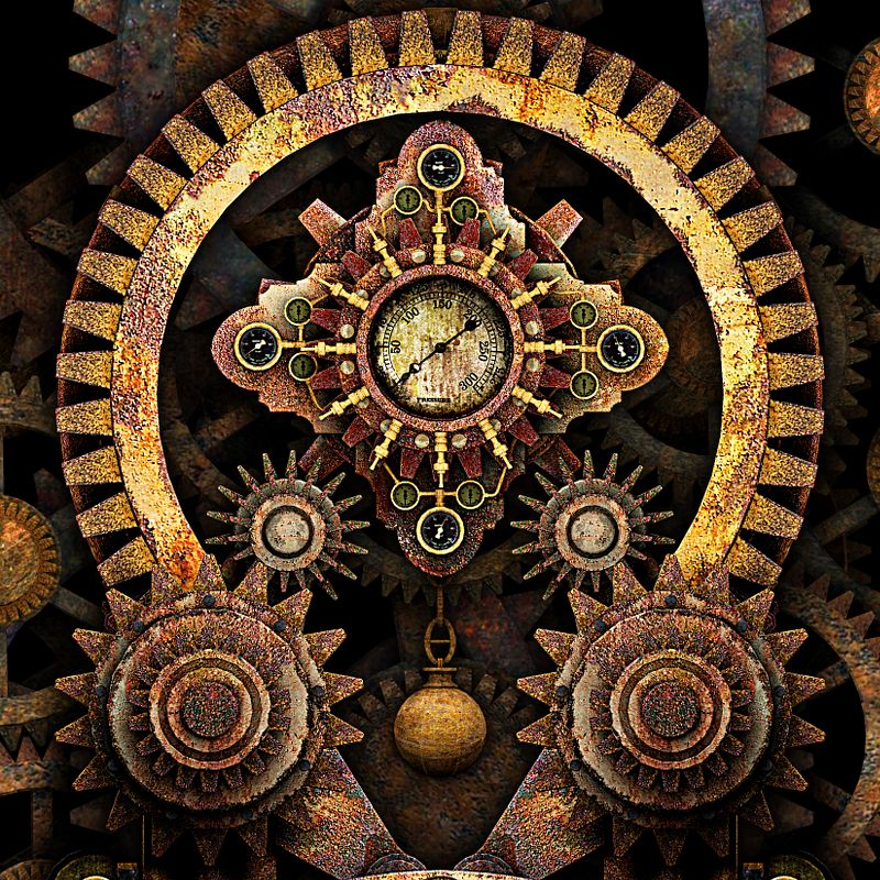 Steampunk Vintage Machine