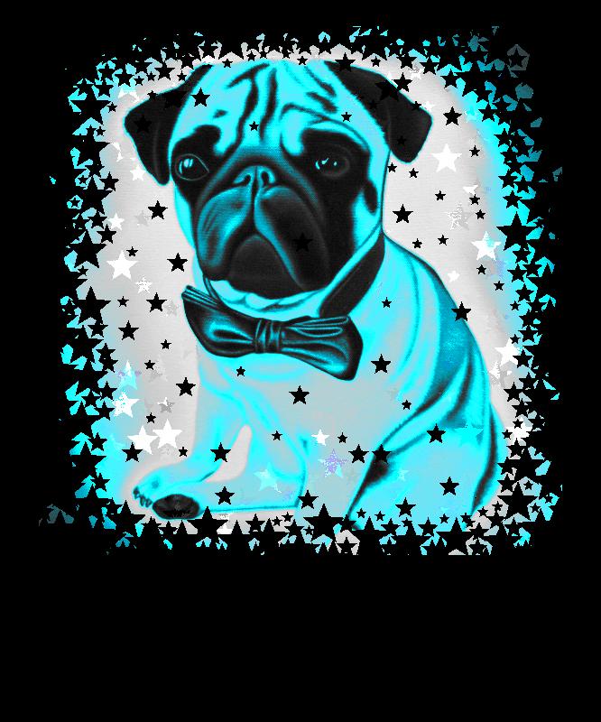 Blue Starry Pug