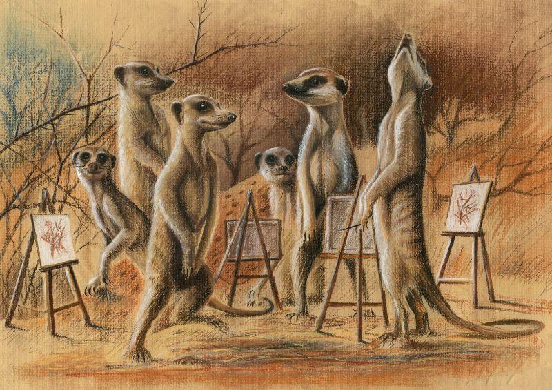 The Art Class meerkats