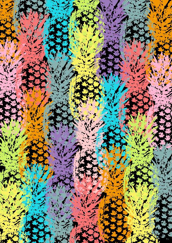 Pineapples Multicolor Wat