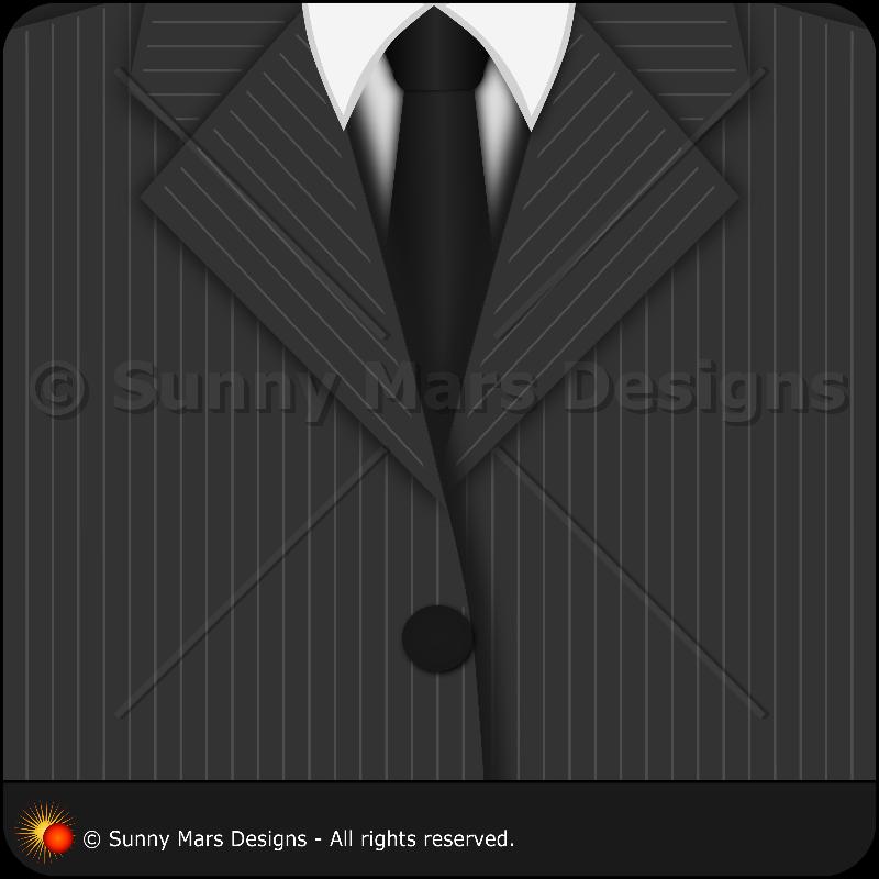 Grey Pinstripe Suit  Tie