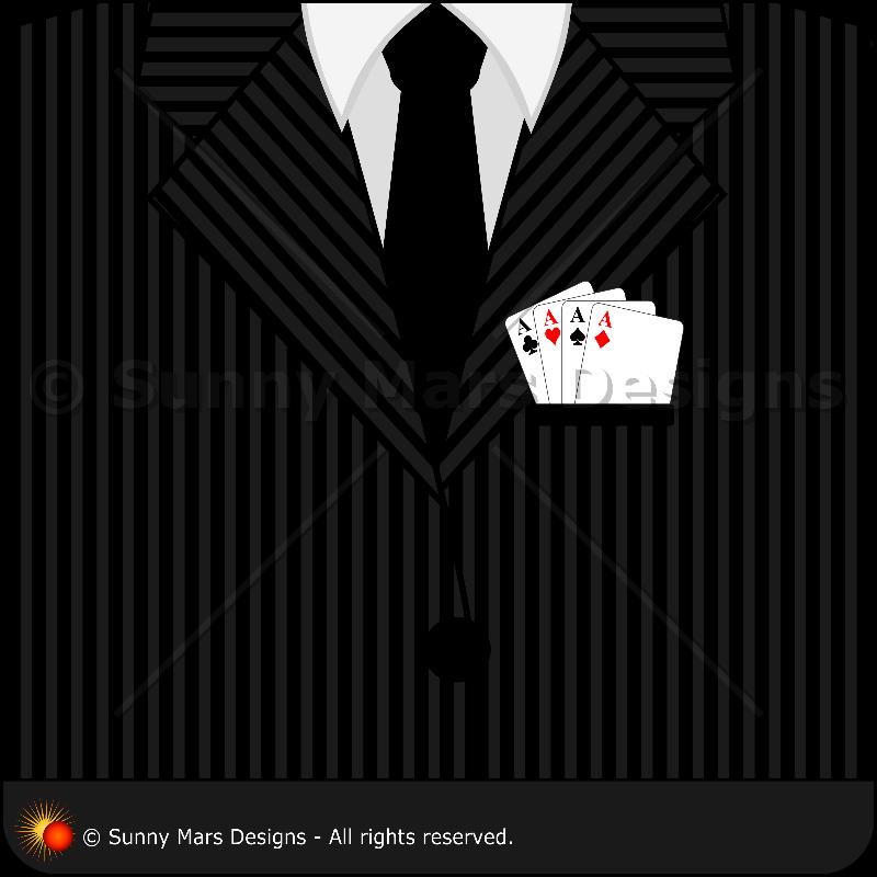 Pinstripe Suit Tie Poker