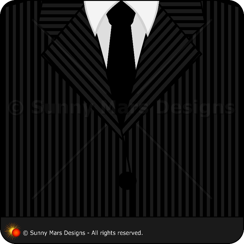 Pinstripe Suit and Tie