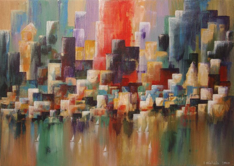 Abstract City Skyline
