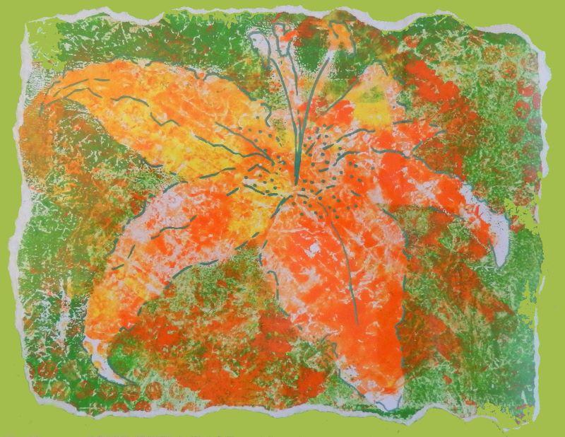 Orange Lily Print
