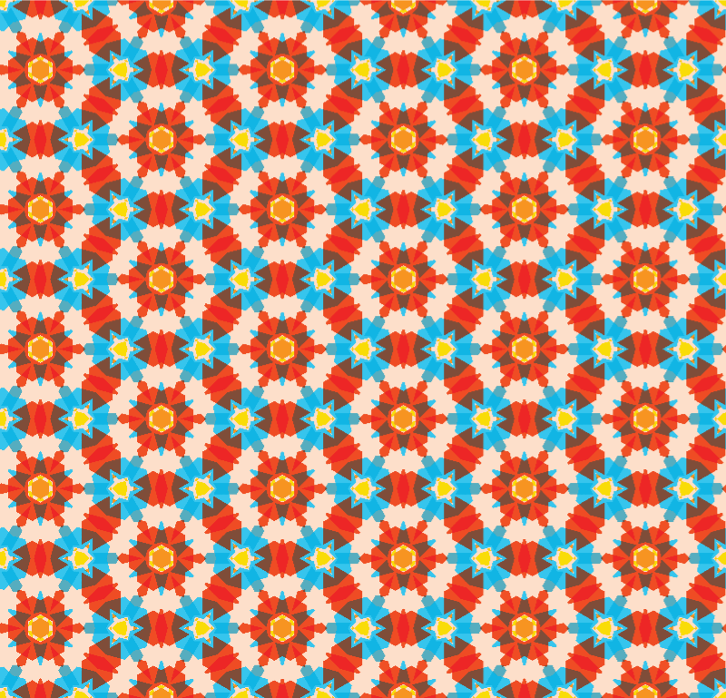 3D Colours Retro Geometric Pattern