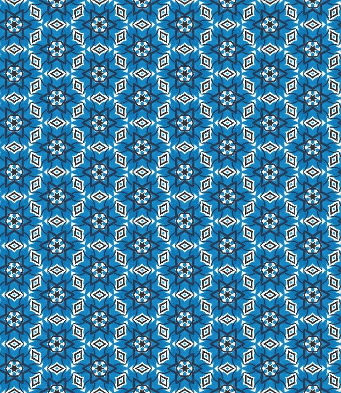 Blue Kaleidoscope Pattern
