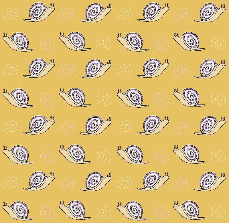 Cute Drawn Snail Pattern