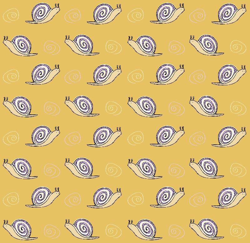 Cute Drawn Snail Pattern