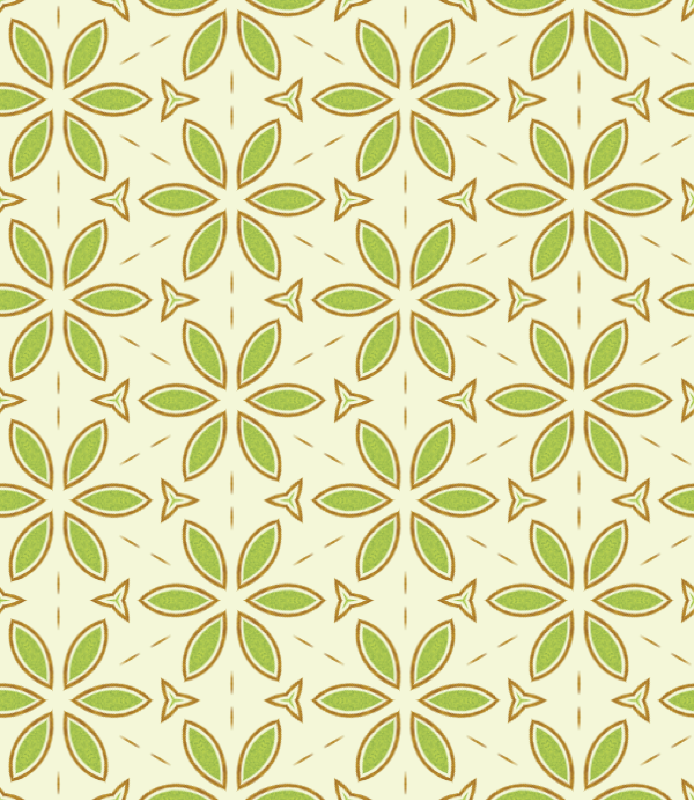 Kiwi Flowers Pattern