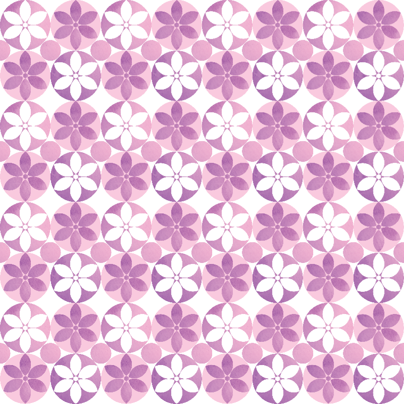 Purple Flower Tiles