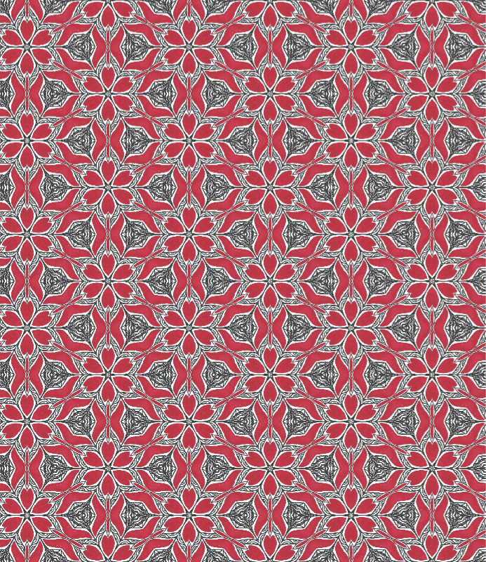 Red Kaleidoscope Pattern