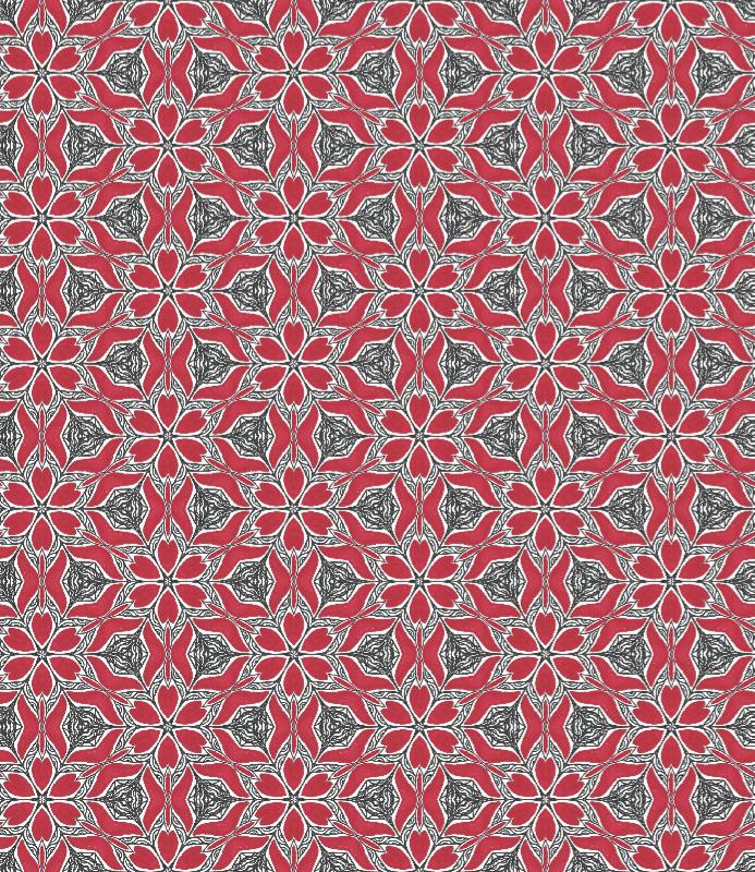 Red Kaleidoscope Pattern