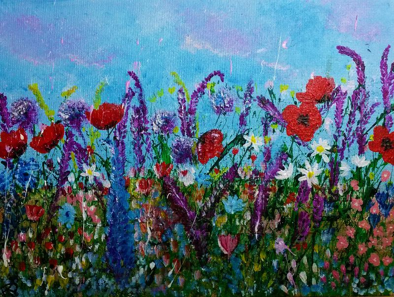 Poppies  Lavendar